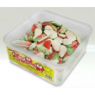 ALMA FIZZY STRAWBERRIES HALAL STRAWBERRY FLAVOUR JELLY SWEETS 120 PCS TUB